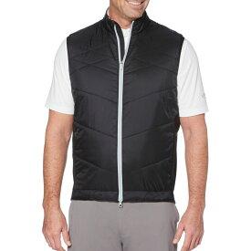 キャロウェイ Callaway メンズ ゴルフ ノースリーブ トップス【Swing-Tech Quilted Golf Vest】Caviar