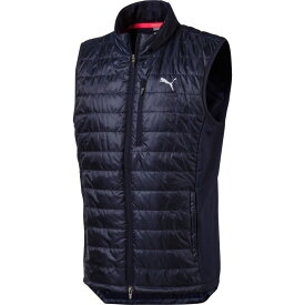 プーマ PUMA メンズ ゴルフ ノースリーブ トップス【Quilted Primaloft Golf Vest】Peacoat