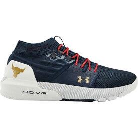 アンダーアーマー Under Armour メンズ フィットネス・トレーニング シューズ・靴【Project Rock 2 Training Shoes】Navy/White/Gold