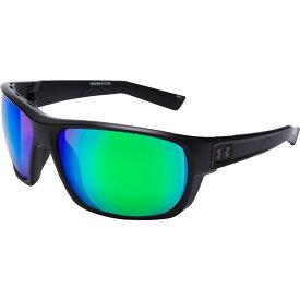 アンダーアーマー Under Armour メンズ メガネ・サングラス 【Launch Polarized Sunglasses】Black/Green Mirror