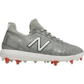 ニューバランス New Balance メンズ 野球 スパイク シューズ・靴【COMPV1 Baseball Cleats】Grey/White