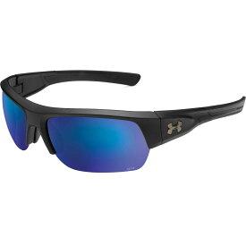 アンダーアーマー Under Armour メンズ スポーツサングラス 【Big Shot Fishing Tuned Offshore Polarized Sunglasses】Satin Black/Offshore Polar Lens