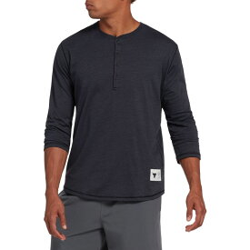 アンダーアーマー Under Armour メンズ トップス 七分袖 ヘンリーシャツ【Project Rock Henley 3/4 Sleeve Shirt】Black Full Heather/White