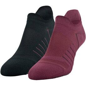 アンダーアーマー Under Armour レディース ソックス 2点セット インナー・下着【Performance Grippy No Show Socks - 2 Pack】Level Purple