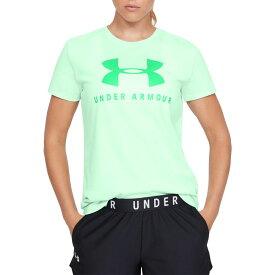アンダーアーマー Under Armour レディース Tシャツ トップス【Sportstyle Graphic Classic Crewneck T-Shirt】Aqua Foam/Vapor Green