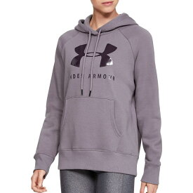 アンダーアーマー Under Armour レディース パーカー トップス【Rival Fleece Graphic Hoodie】Flint/Nocturne Purple