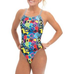 ドルフィン Dolfin レディース ワンピース 水着・ビーチウェア【Uglies Print V-2 Back One Piece Swimsuit】Global Grafitti