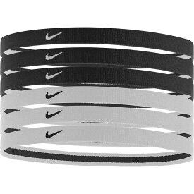 ナイキ Nike レディース ヘアアクセサリー 6点セット ヘッドバンド【Swoosh Sport Headbands - 6 Pack】Black/White
