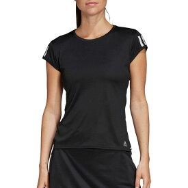 アディダス adidas レディース テニス Tシャツ トップス【Club Three-Stripes Tennis T-Shirt】White/Black/Matte Silver