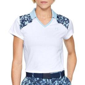 アンダーアーマー Under Armour レディース ゴルフ 半袖 トップス【Zinger Color Blocked Short Sleeve Golf Polo】White