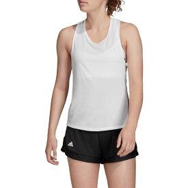 アディダス adidas レディース テニス タンクトップ トップス【Club Tieback Tennis Tank】White/Matte Silver