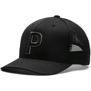 プーマ PUMA メンズ ゴルフ トラッカーハット【Trucker 110 Golf Hat】Puma Black