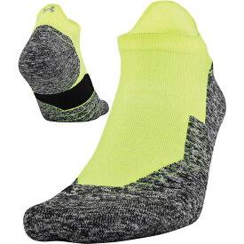 アンダーアーマー Under Armour メンズ ランニング・ウォーキング ソックス【Run Cushion 2.0 No Show Tab Socks】Hi Vis Yellow