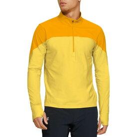 アンダーアーマー Under Armour メンズ ランニング・ウォーキング ハーフジップ トップス【Qualifier 1/2 Zip Running Long Sleeve Shirt (Regular and Big & Tall)】Yellow