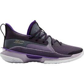 アンダーアーマー Under Armour メンズ バスケットボール シューズ・靴【Curry 7 Basketball Shoes】Purple