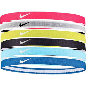 ナイキ Nike レディース ヘアアクセサリー 【Swoosh Sport Headbands - 6 Pack】Rush Pink/White
