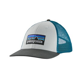 パタゴニア Patagonia メンズ キャップ 帽子【P-6 Logo LoPro Trucker Hat】White/Forge Grey