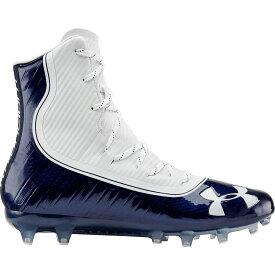 アンダーアーマー Under Armour メンズ アメリカンフットボール シューズ・靴【Highlight MC Football Cleats】Navy/White