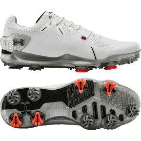 アンダーアーマー Under Armour メンズ ゴルフ シューズ・靴【Spieth 4 GTX Golf Shoes】White/Black