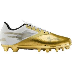 アンダーアーマー Under Armour メンズ アメリカンフットボール スパイク シューズ・靴【Blur Lux LE MC Football Cleats】Gold/White