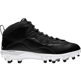ナイキ ジョーダン Jordan メンズ アメリカンフットボール シューズ・靴【10 TD Mid Football Cleats】Black/White