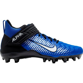 ナイキ Nike メンズ アメリカンフットボール スパイク シューズ・靴【Alpha Menace Varsity 2 Mid Football Cleats】Game Royal/White/Black