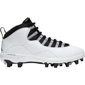 ナイキ ジョーダン Jordan メンズ アメリカンフットボール スパイク シューズ・靴【10 TD Mid Football Cleats】White/Black
