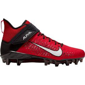 ナイキ Nike メンズ アメリカンフットボール スパイク シューズ・靴【Alpha Menace Pro 2 Mid Football Cleats】University Red/White/Black