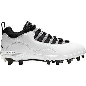 ナイキ ジョーダン Jordan メンズ アメリカンフットボール スパイク シューズ・靴【10 TD Football Cleats】White/Black