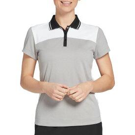 スラセンジャー Slazenger レディース ゴルフ 半袖 トップス【Tipped Collar Short Sleeve Golf Polo】Light Heather Grey