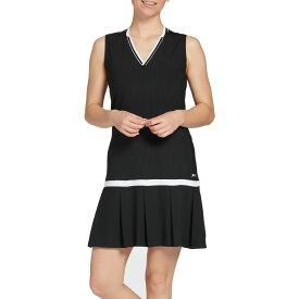 スラセンジャー Slazenger レディース ゴルフ ノースリーブ ワンピース トップス【Pleated Sleeveless Golf Dress】Black