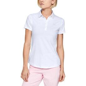 アンダーアーマー Under Armour レディース ゴルフ 半袖 トップス【Zinger Short Sleeve Golf Polo】White