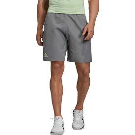 アディダス adidas メンズ テニス ショートパンツ ボトムス・パンツ【Club 3 Stripes Tennis Shorts】Grey Three/Glow Green
