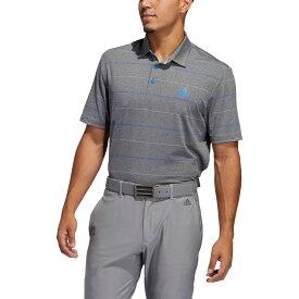 アディダス adidas メンズ ゴルフ ポロシャツ トップス【Ultimate365 Heather Stripe Golf Polo】Grey Three/Purple Tint