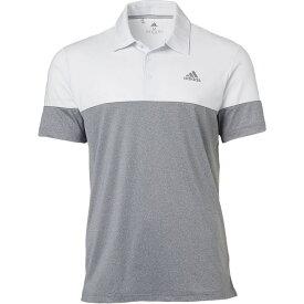 アディダス adidas メンズ ゴルフ ポロシャツ トップス【Ultimate365 Heather Block Golf Polo】White/Grey Three