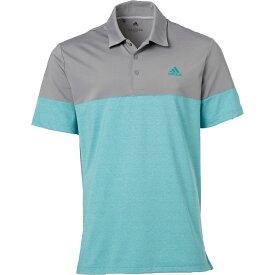 アディダス adidas メンズ ゴルフ ポロシャツ トップス【Ultimate365 Heather Block Golf Polo】Grey Three/True Green