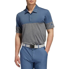 アディダス adidas メンズ ゴルフ ポロシャツ トップス【Ultimate365 Heather Block Golf Polo】Grey Heather/Tech Ink