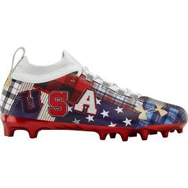 アンダーアーマー Under Armour メンズ アメリカンフットボール スパイク シューズ・靴【Blur LE Americana MC Football Cleats】Red/Navy