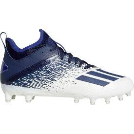 アディダス adidas メンズ アメリカンフットボール スパイク シューズ・靴【adizero Scorch Football Cleats】White/Navy