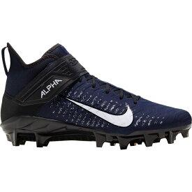 ナイキ Nike メンズ アメリカンフットボール スパイク シューズ・靴【Alpha Menace Pro 2 Mid Football Cleats】College Navy/White/Black