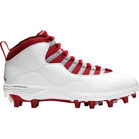 ナイキ ジョーダン Jordan メンズ アメリカンフットボール スパイク シューズ・靴【10 TD Mid Football Cleats】White/Red