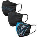 フォコ FOCO ユニセックス 帽子 3点セット【Adult Miami Marlins 3-Pack Facemasks】