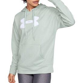 アンダーアーマー Under Armour レディース パーカー トップス【Synthetic Fleece Chenille Logo Hoodie】Atlas Green/Tonal