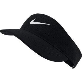 ナイキ Nike レディース サンバイザー 帽子【Court Advantage Tennis Visor】Black/White