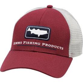 シムス Simms ユニセックス キャップ トラッカーハット 帽子【Adult Striper Icon Trucker Hat】Rusty Red