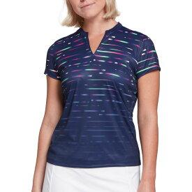 スラセンジャー Slazenger レディース ゴルフ トップス【Prism Print Golf Polo】Gradient Purple