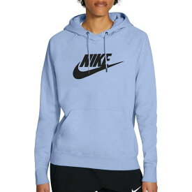 ナイキ Nike レディース パーカー トップス【Sportswear Essential Fleece Pullover Hoodie】Light Marine