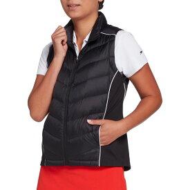 スラセンジャー Slazenger レディース ゴルフ アウター【Warm Up Tech Down-Fill Golf Vest】Black