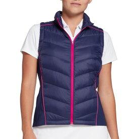 スラセンジャー Slazenger レディース ゴルフ アウター【Warm Up Tech Down-Fill Golf Vest】Nightfall Purple