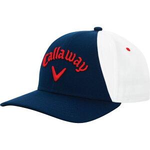 キャロウェイ Callaway メンズ キャップ 帽子【Ball Park Golf Hat】Navy/White/Red
